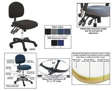 BENCHPRO™ FABRIC INDUSTRIAL CHAIRS